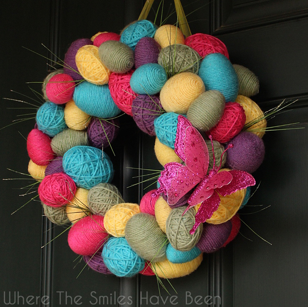 Spring Easter Egg Wreath Where The Smiles Have Been yka1aqMB