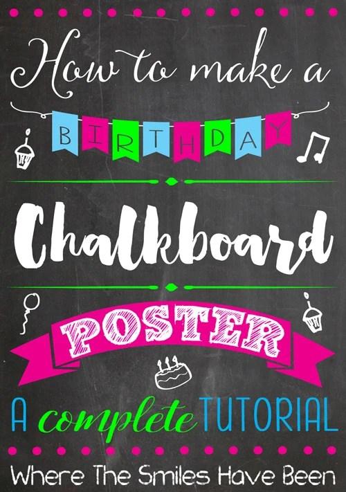 Elena's Classic Alice in Wonderland First Birthday Chalkboard Poster