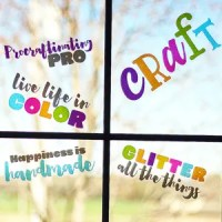 Inspiring Crafty Window Clings with Transparent Glitter Vinyl + GIVEAWAY!