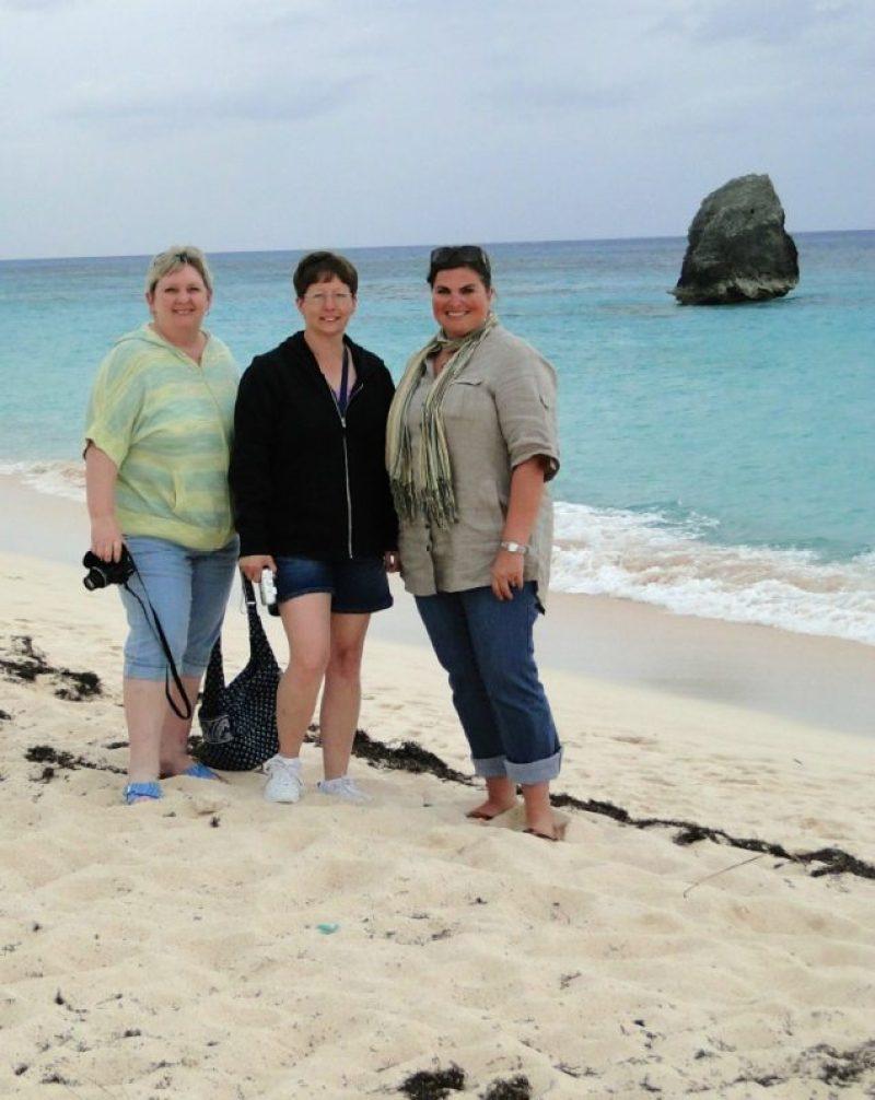 The beautiful beaches of Bermuda with my besties.