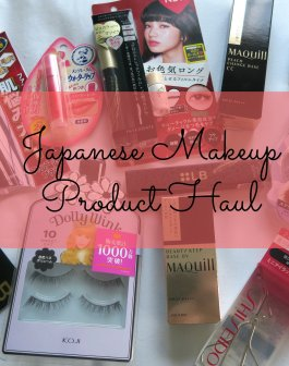 Japanese Makeup Product Haul 01