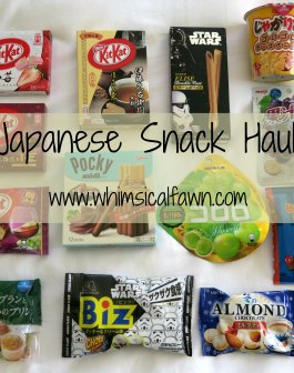 Japanese Snack Haul 01