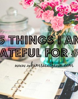 5 Things I am Grateful For #002 Whimsicalfawn