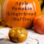 Apple Pumpkin Gingerbread Muffins