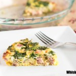 Ham and Cheese Crustless Quiche