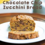 whole wheat chocolate zucchini bread snack dessert