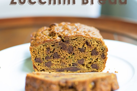 Whole Wheat Chocolate Chip Zucchini Bread