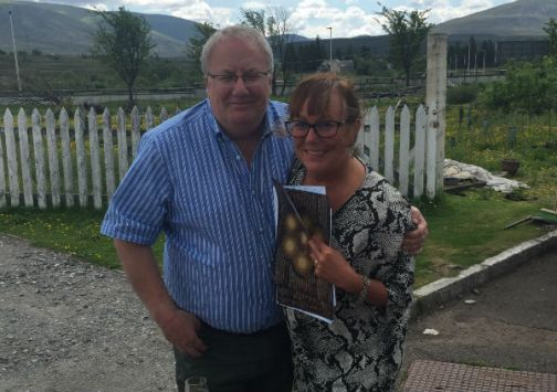Paul and Liz of MCLEANSCOTLAND at Dalwhinnie distillery