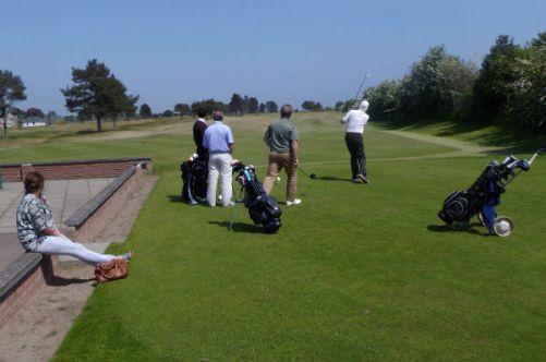 playing around at Monifieth golf course Scotland