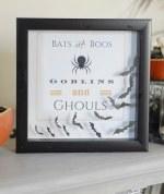 Bats and Boos Halloween Printable Shadowbox