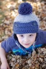 Toddler Trapper Hat Free Crochet Pattern
