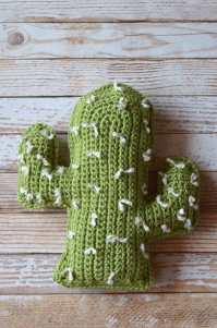 Cactus Pillow Crochet Pattern - Whistle and Ivy