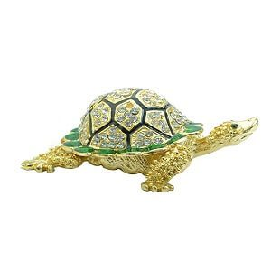 Bejeweled Fengshui Wish-Fulfilling Golden Tortoise …