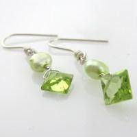 Green Pearl Earrings Green Pearl Hoop Earrings Shafaq ...