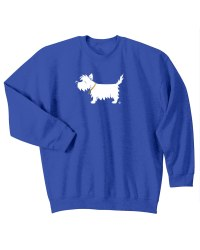 westie sweatshirt / white dog crewneck sweatshirt - White ...