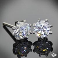8 Prong Martini Diamond Earrings   9407
