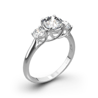 Vatche X-Prong 3 Stone Engagement Ring | 2816
