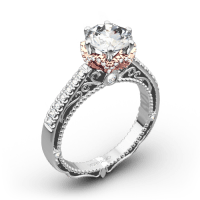 Verragio AFN-5052-4 6 Prong Crown Diamond Engagement Ring ...