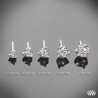 3-prong 'Martini' Diamond Earrings--Setting Only | 1339