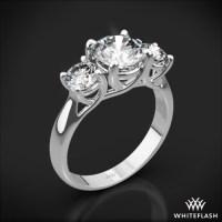 3-Stone Trellis Diamond Engagement Ring   1025