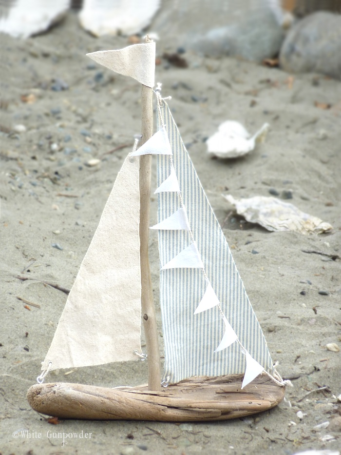 diy driftwood sailboats white gunpowder