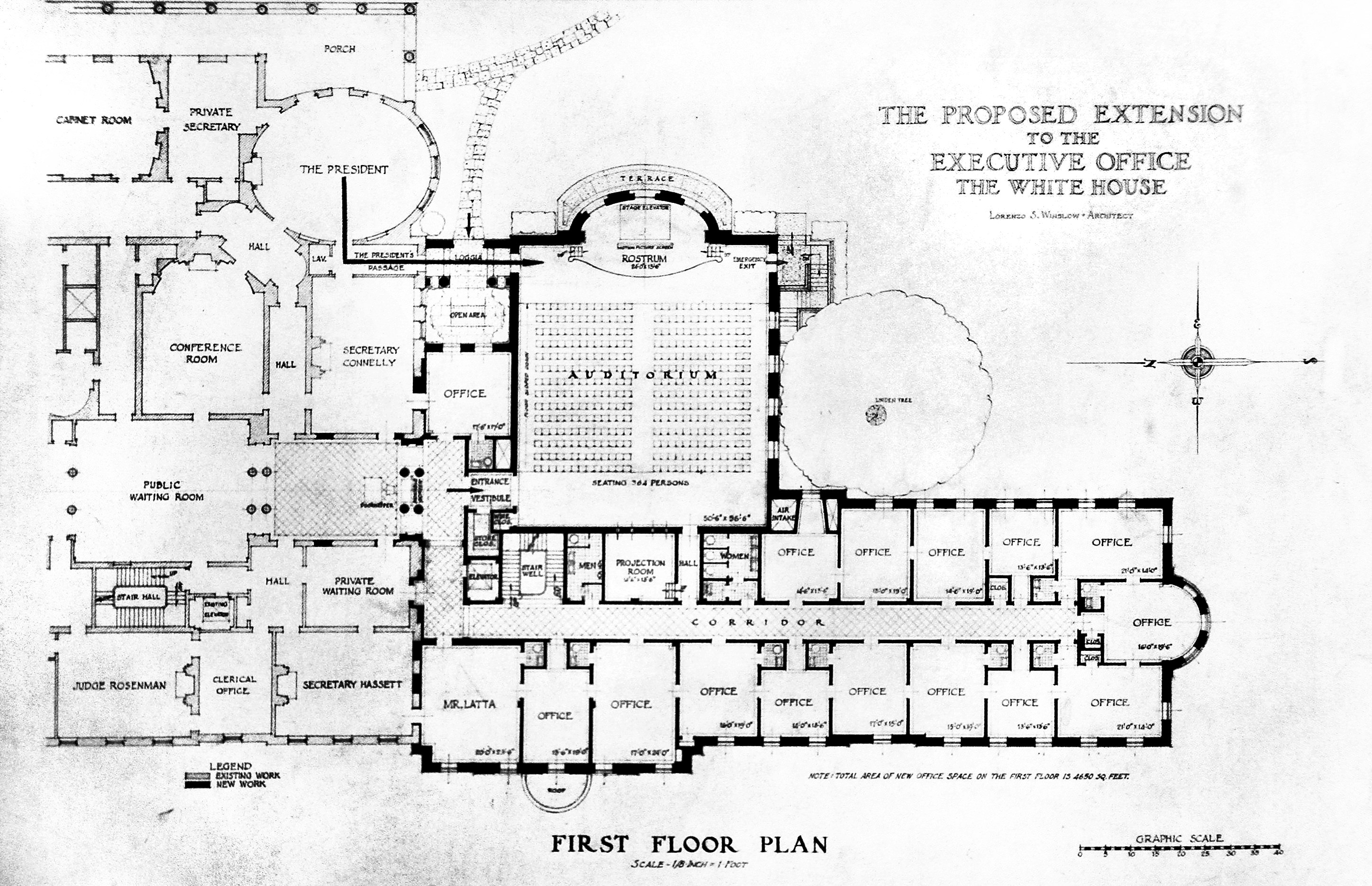 diagram of the west wing