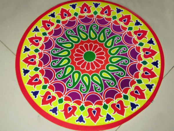 rangoli sticker. 1079 x 816.Happy New Year Rangoli Designs