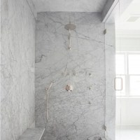 White Marble Shower - Image Cabinets and Shower Mandra ...