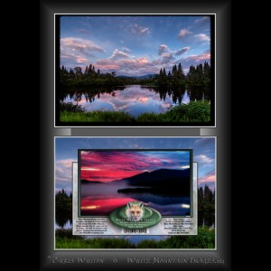 #2022 Great North Woods Sunset Notecard