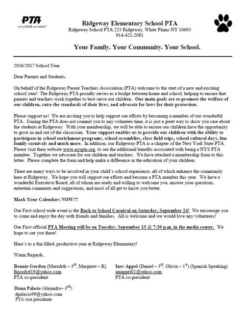back to school letter to parents from teacher - Josemulinohouse