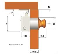 Square Push Button Cabinet Latch - White Water Marine Hardware
