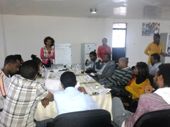 One of our scriptwriter workshops in Addis Ababa, Ethiopia (Africa)