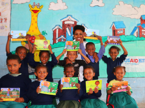 """Using Tsehai Loves Learning – Healthy Whiz Kids episodes taught me to value the importance of media for teaching children."" Abeba Eyasu, a primary school teacher, reflects on the value of Tsehai materials in her curriculum."