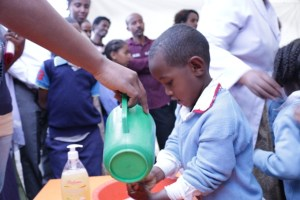 """Robel Adamu  A grade one student, reflects on the attending Tsehai Loves Learning- Healthy Whiz Kids children festival """"Tsehai Loves Learning- Healthy Whiz Kids festival thought me the importance of soap while washing my hand."""""""