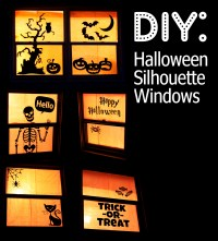 Halloween Silhouette Windows - Who Arted?