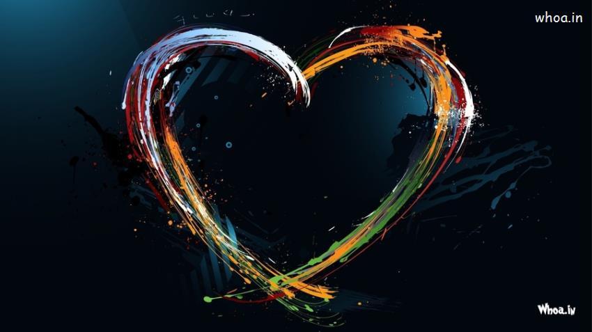 John Abraham 3d Wallpapers Dark Colorful Love Hart Hd Wallpaper