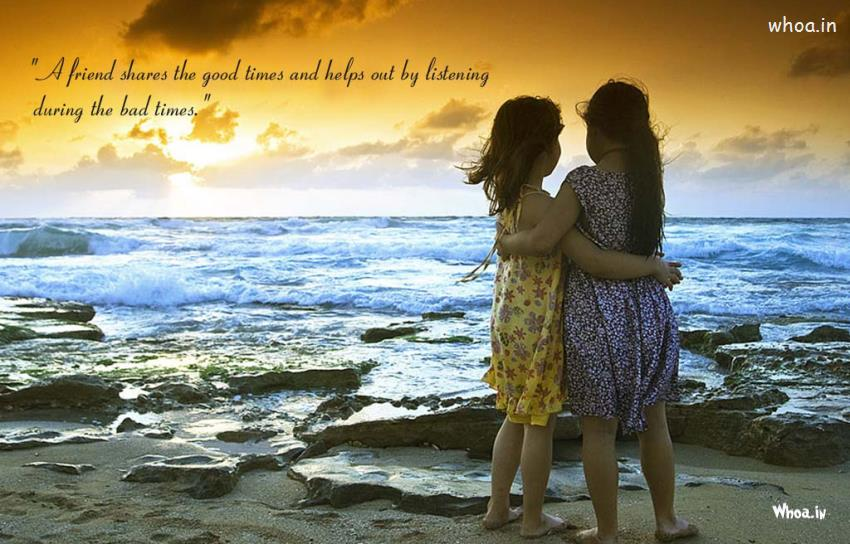 Happy Holi 3d Wallpapers Two Girls Friendship Natural Wallpaper With Friendship Quote