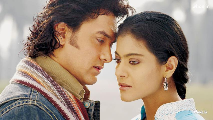 Narendra 3d Wallpaper Amir And Kajol In Movie Fanna