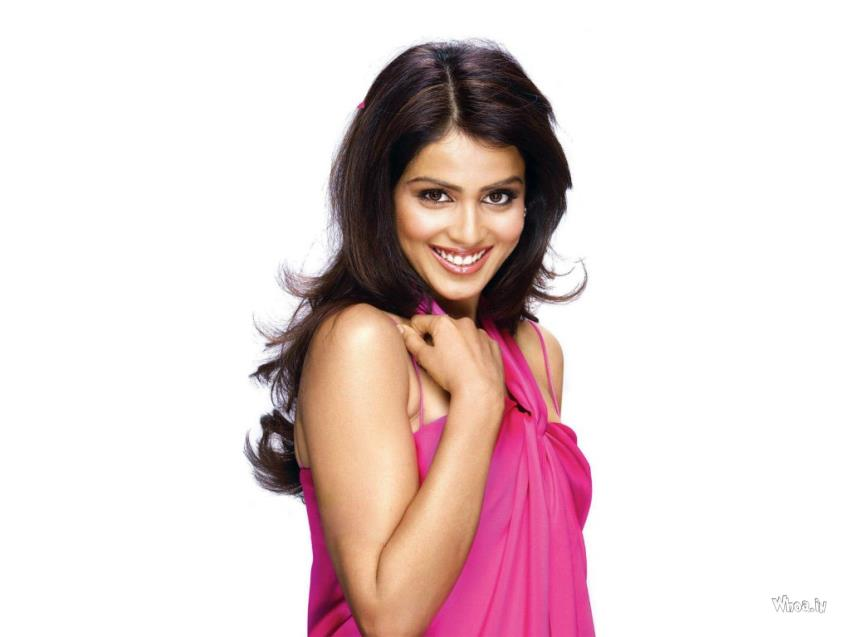 Krishna Wallpaper Desktop 3d Genelia D Souza Hot In Pink Dress Hd Wallpaper