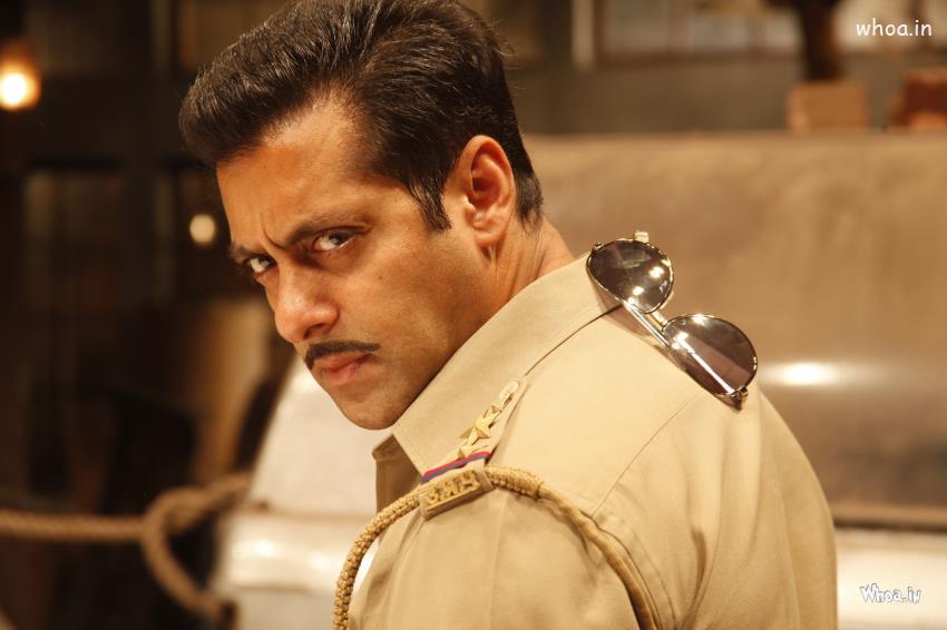 Salman Khan Cute Wallpaper Salman Khan In Police Uniform In Dabangg