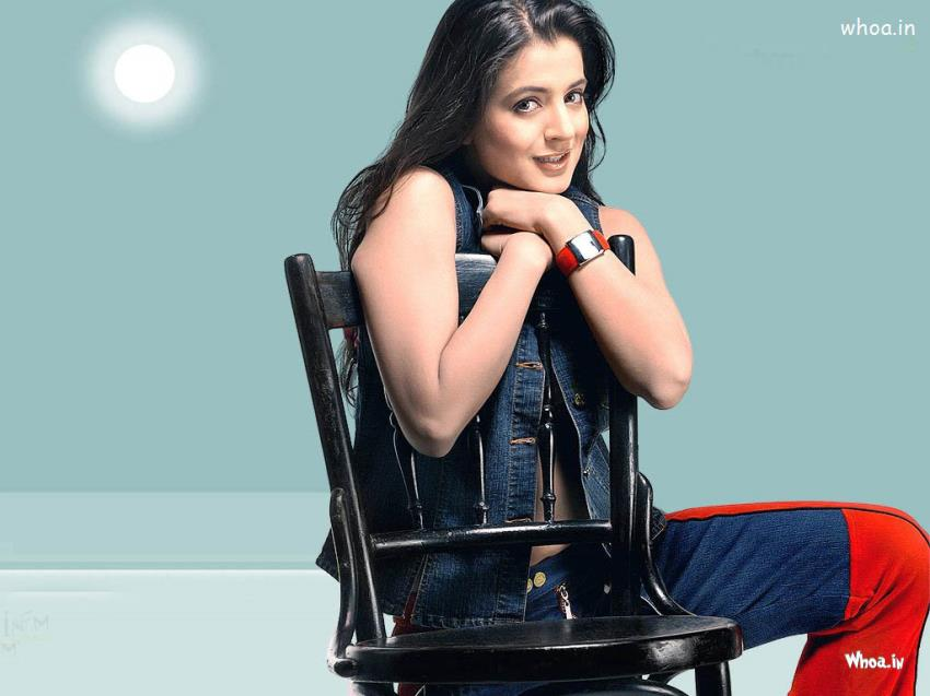 Cute Ganesh Hd Wallpaper Amisha Patel Sitting On A Chair Close Up Hd Wallpaper