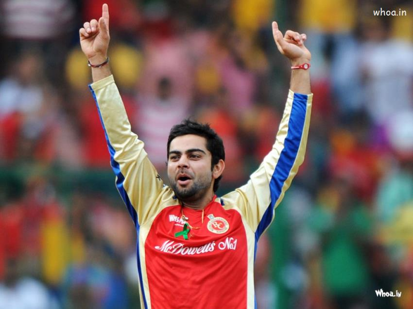 God Ganesh Hd 3d Wallpaper Virat Kohli Celebrates A Wicket