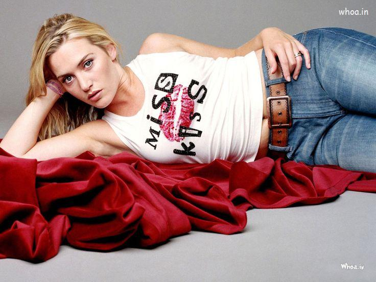 Love Hug Wallpapers With Quotes Kate Winslet Cute Image In Blue Jeans