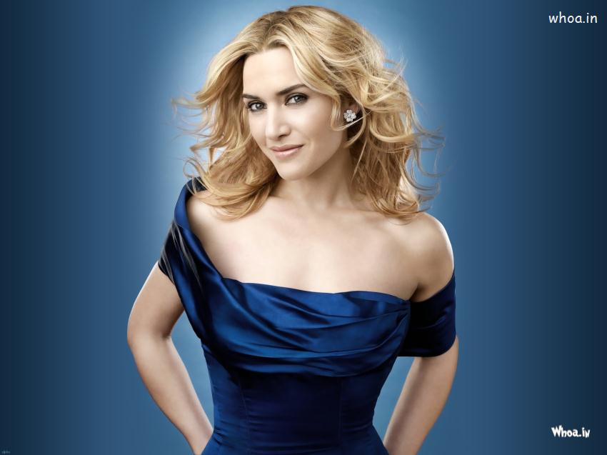 Motivational Quotes Hd Mobile Wallpaper Kate Winslet In Blue Dress Hot Photoshoot