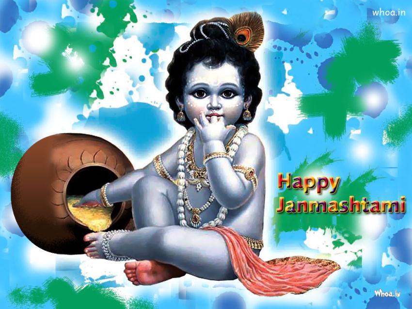 Sai Baba Animated Wallpaper For Mobile Bal Krishna Eating Butter