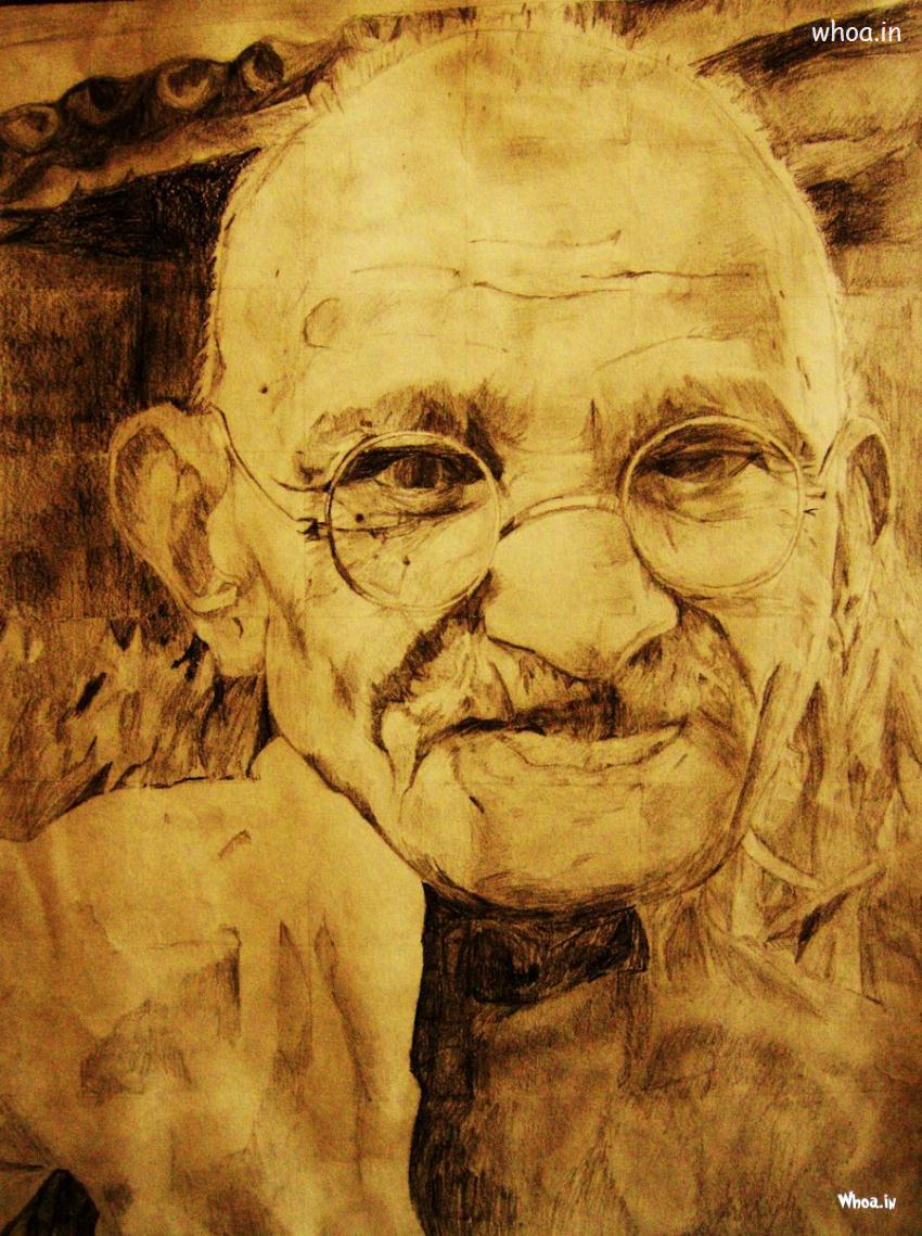 Hd Quotes Wallpapers For Windows 7 Gandhiji Art Image
