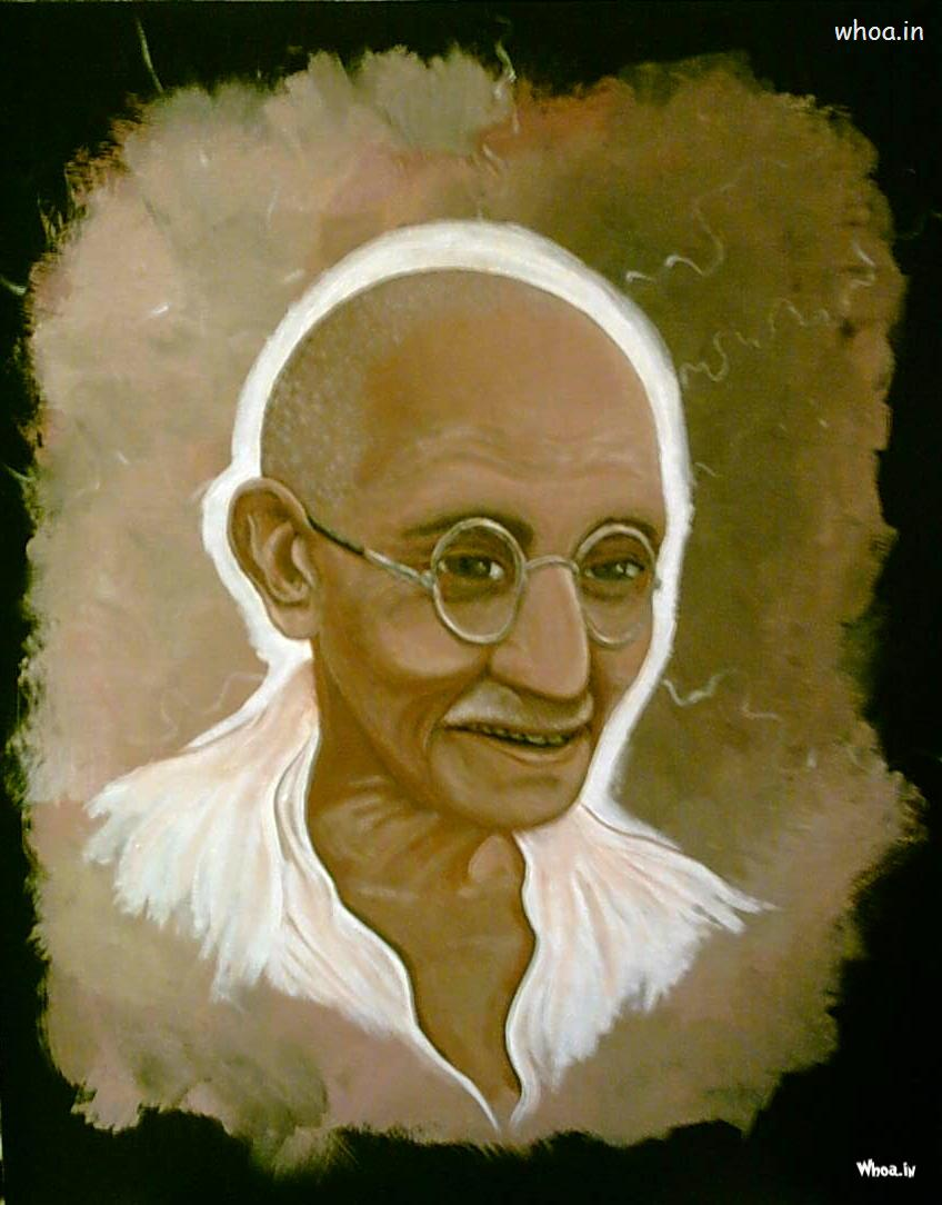 Hd Quotes Wallpapers For Windows 7 Mahatma Gandhi Color Art Painting
