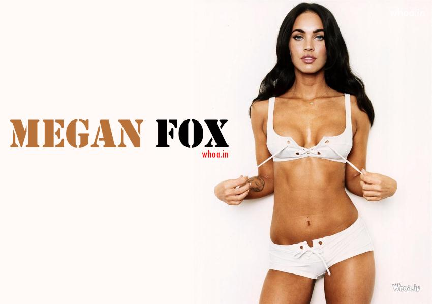 Quote Mac Wallpaper Megan Fox In White Bikini