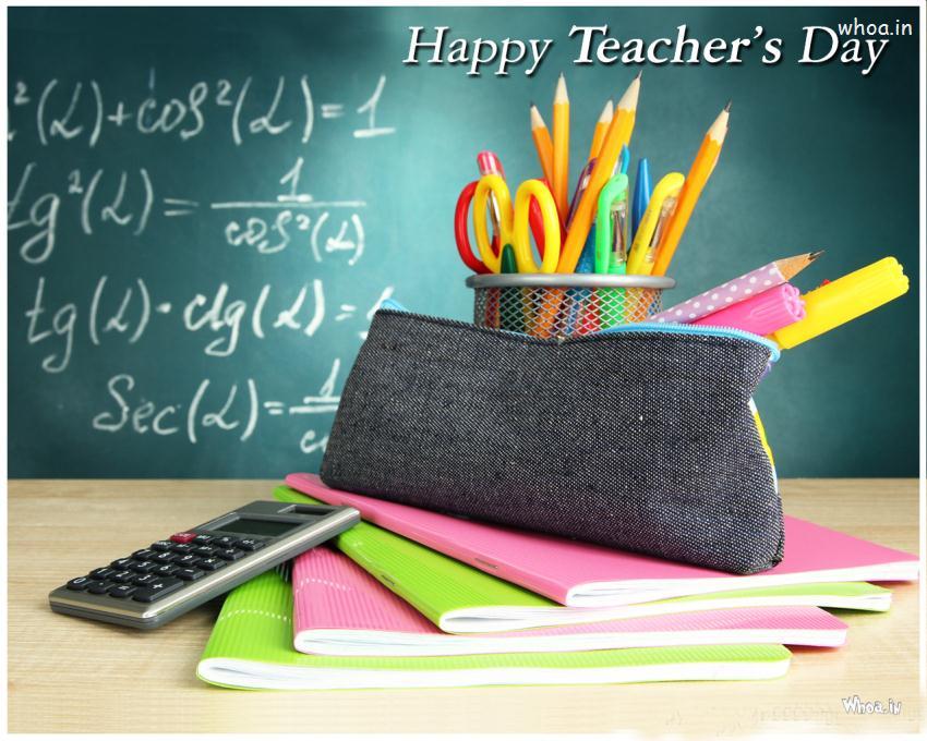 Cute Happy Teachers Day Wallpaper Teachers Day Colorful Wallpaper