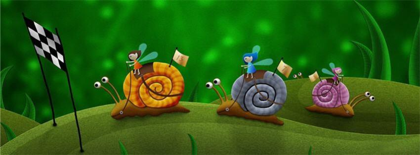 Wallpaper Good Night Quotes Snail Race Funny Facebook Cover